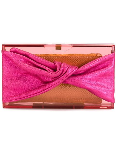 Charlotte Olympia Wrapped Up Pandora Clutch In Pink