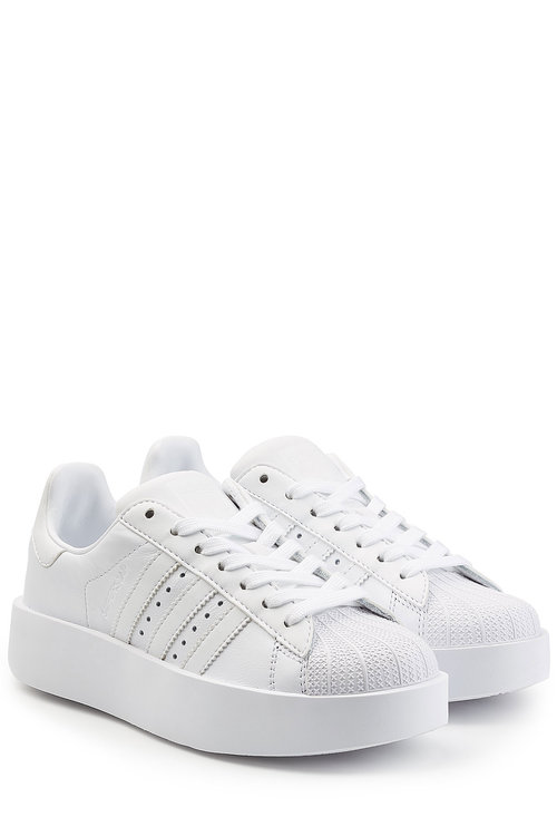 nuovi stili 73410 96f76 Superstar Platform Leather Sneakers in White