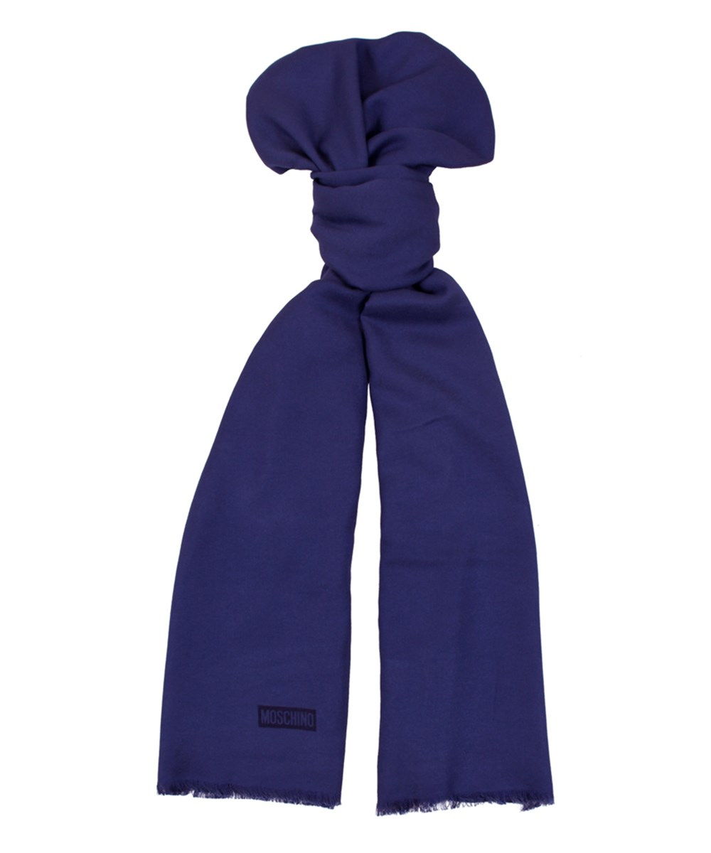 Moschino Mopsm0001  Solid Scarf In Blue