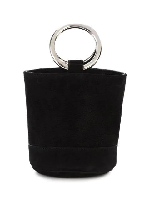 Simon Miller Black Bonsai 15 Mini Suede Bucket Bag