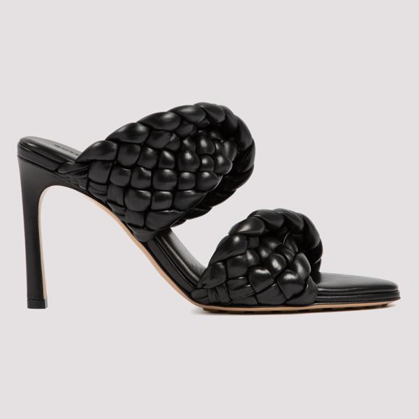 Bottega Veneta Bv Curve Sandals In Black