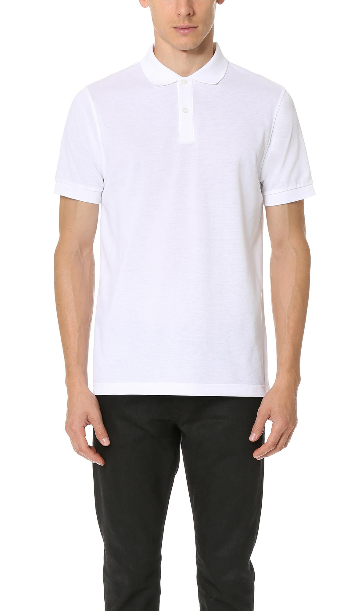 a5143fad Sunspel Short Sleeve Pique Polo Shirt In White | ModeSens