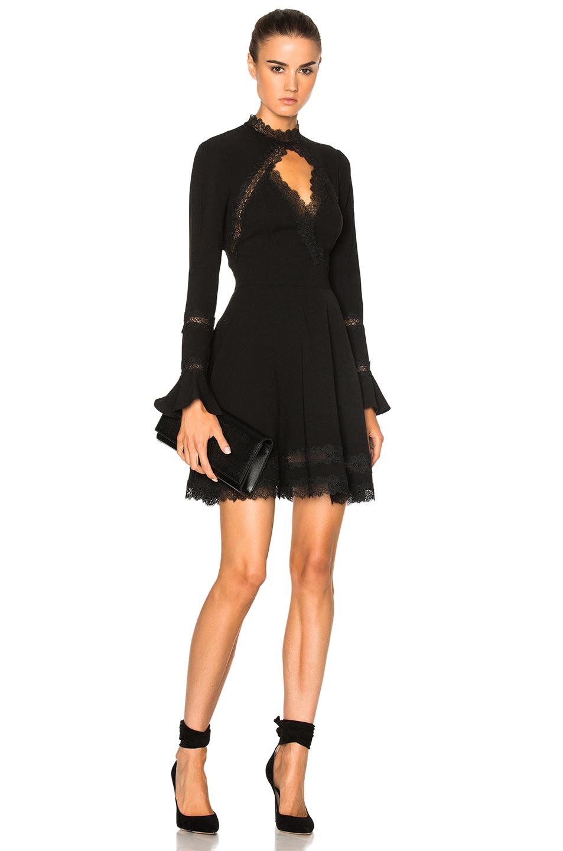 Nicholas Lace Insert Dress In Black