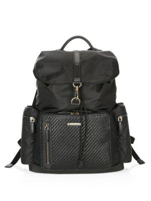 Ermenegildo Zegna Leather Backpack In Black