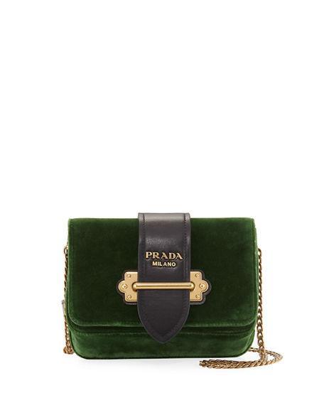 c82c24722 Prada Velvet Cahier Trunk Belt Bag, Yellow/Black | ModeSens
