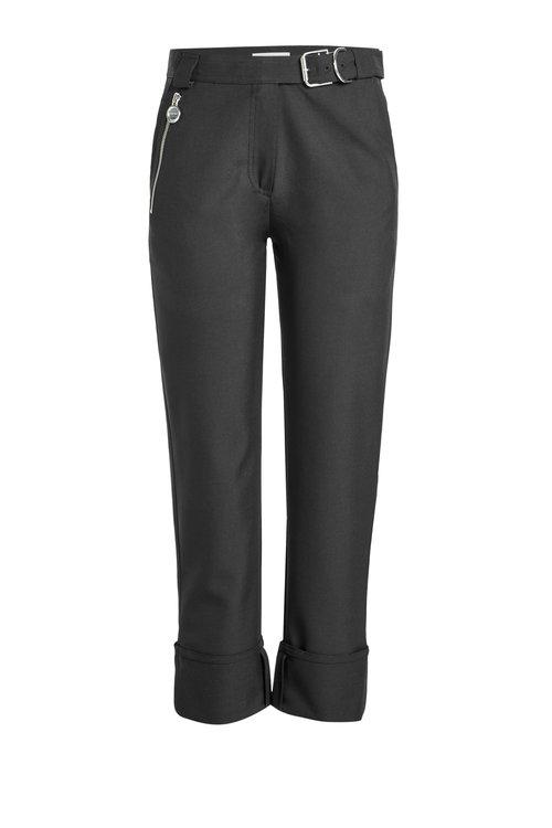 Carven Cropped Wool-Blend Pants In Black