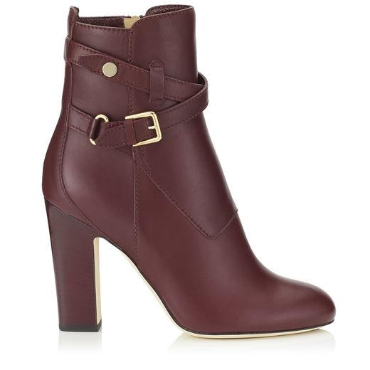 85513705102 Jimmy Choo Mitchel 100 Vino Smooth Leather Boots