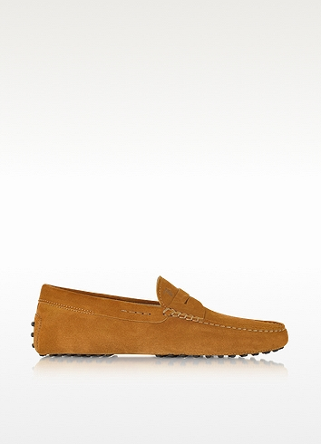 Tod's Gommino Brandy Suede Driving Shoe