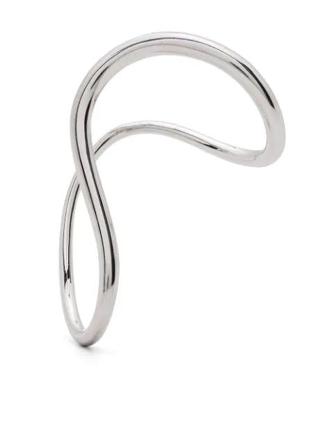 Charlotte Chesnais Slide Medium Single Earring In Silver