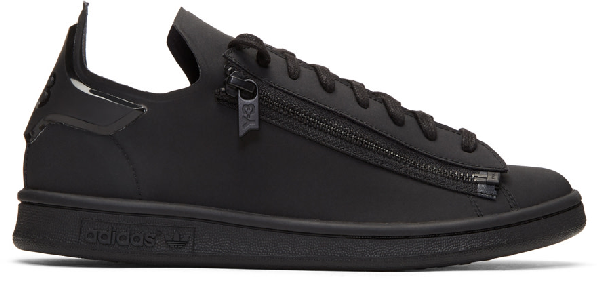 Y-3 Stan Zip Low-top Neoprene Trainers In Black