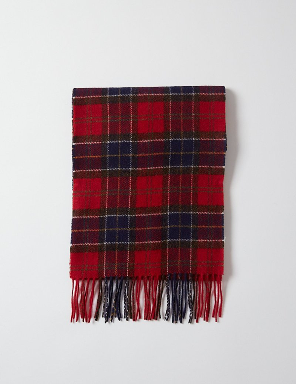 Barbour Oxdale Wool Scarf In Red