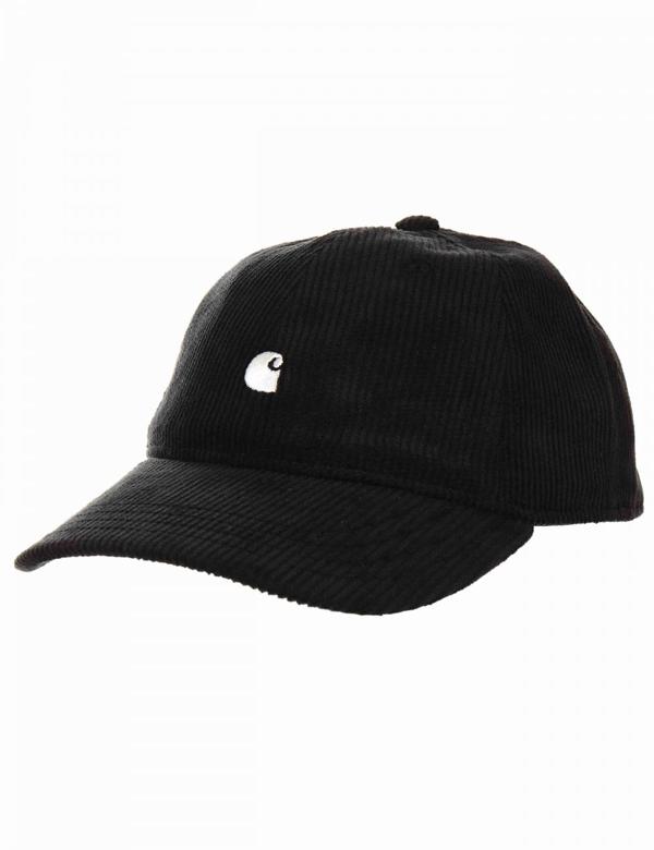 Carhartt Wip Harlem Cord Cap - Black Colour: Black/wax