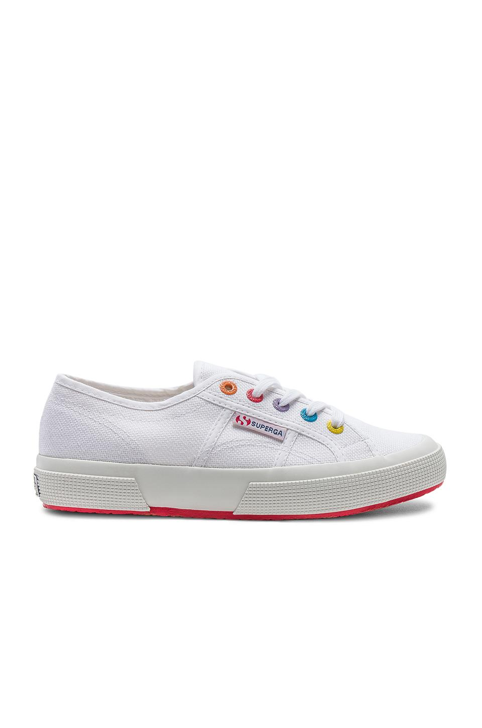 Superga 2750 & 2790 Multi Eyelet Sneaker In White