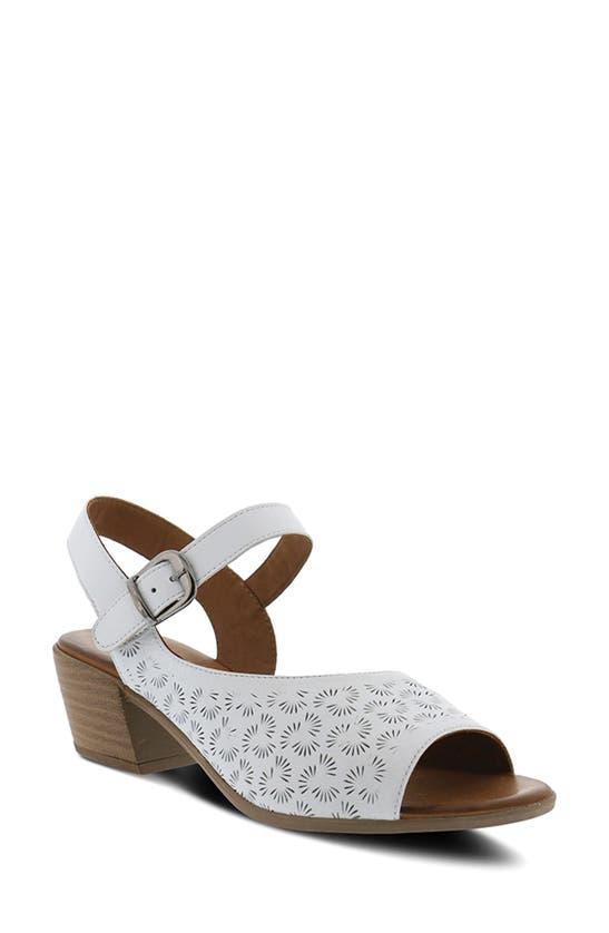 Spring Step Delia Sandal In White Leather