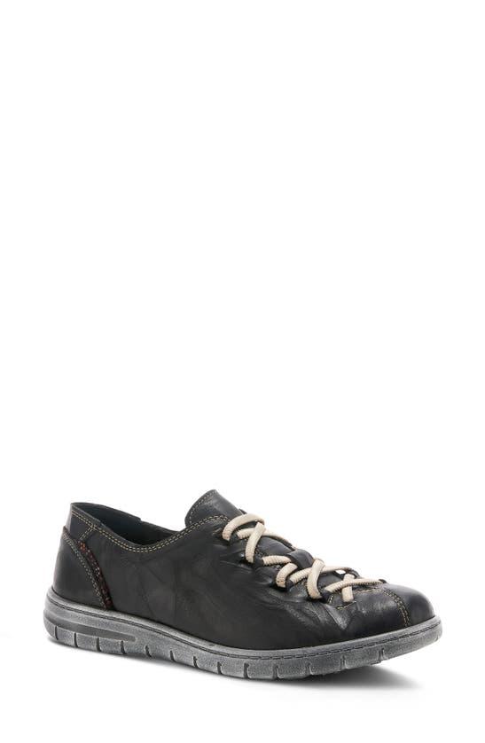 Spring Step Carhopper Slip-on Sneaker In Black Leather