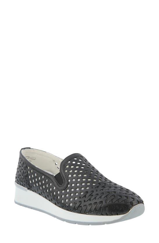 Spring Step Pakeeza Slip-on Sneaker In Black Leather