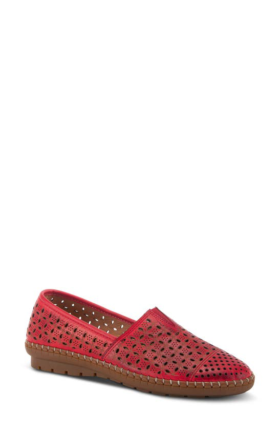 Spring Step Oralis Loafer In Red Leather