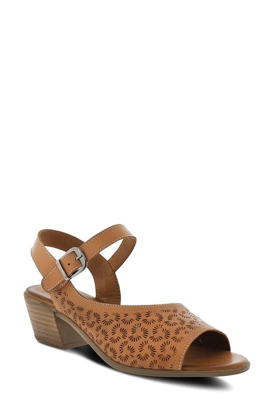 Spring Step Delia Sandal In Camel Leather