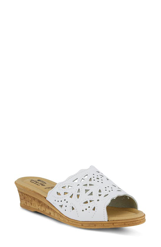 Spring Step Estella Sandal In White Leather