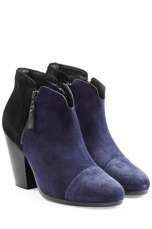 Rag & Bone Margot Suede Ankle Boots In Blue