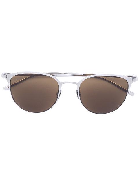 Saint Laurent Eyewear Cat-eye-sonnenbrille Mit Logo - Grau