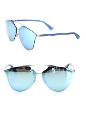0fab289fbf Dior Reflected Prism Aviator Sunglasses In Pink