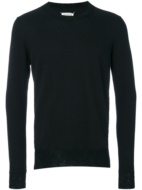 Maison Margiela Elbow Patch Jumper In Black