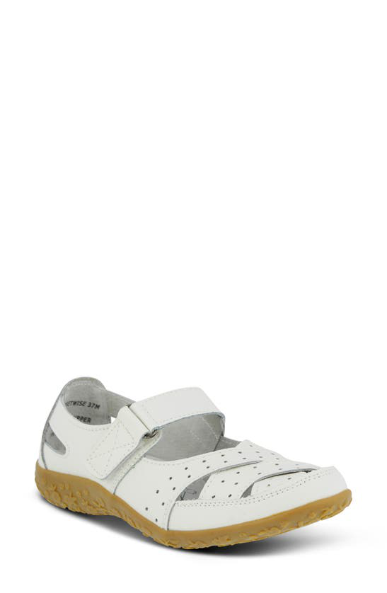 Spring Step Streetwise Mary Jane In White Leather