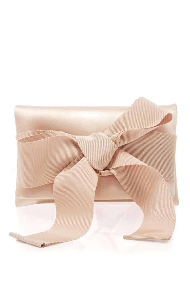 Oscar De La Renta Petite Evening Clutch In Nude