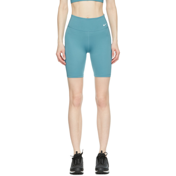 "Nike One Women's Mid-rise 7"" Bike Shorts In 424 Cerulea"
