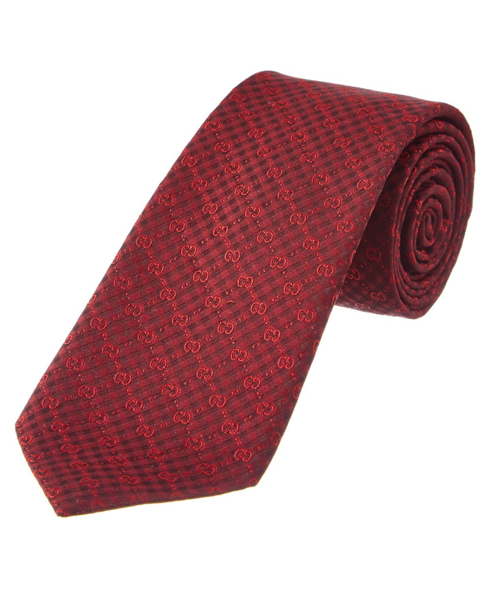 a888e7eb8c14 Gucci Red Gg Silk Tie  In Red Multi