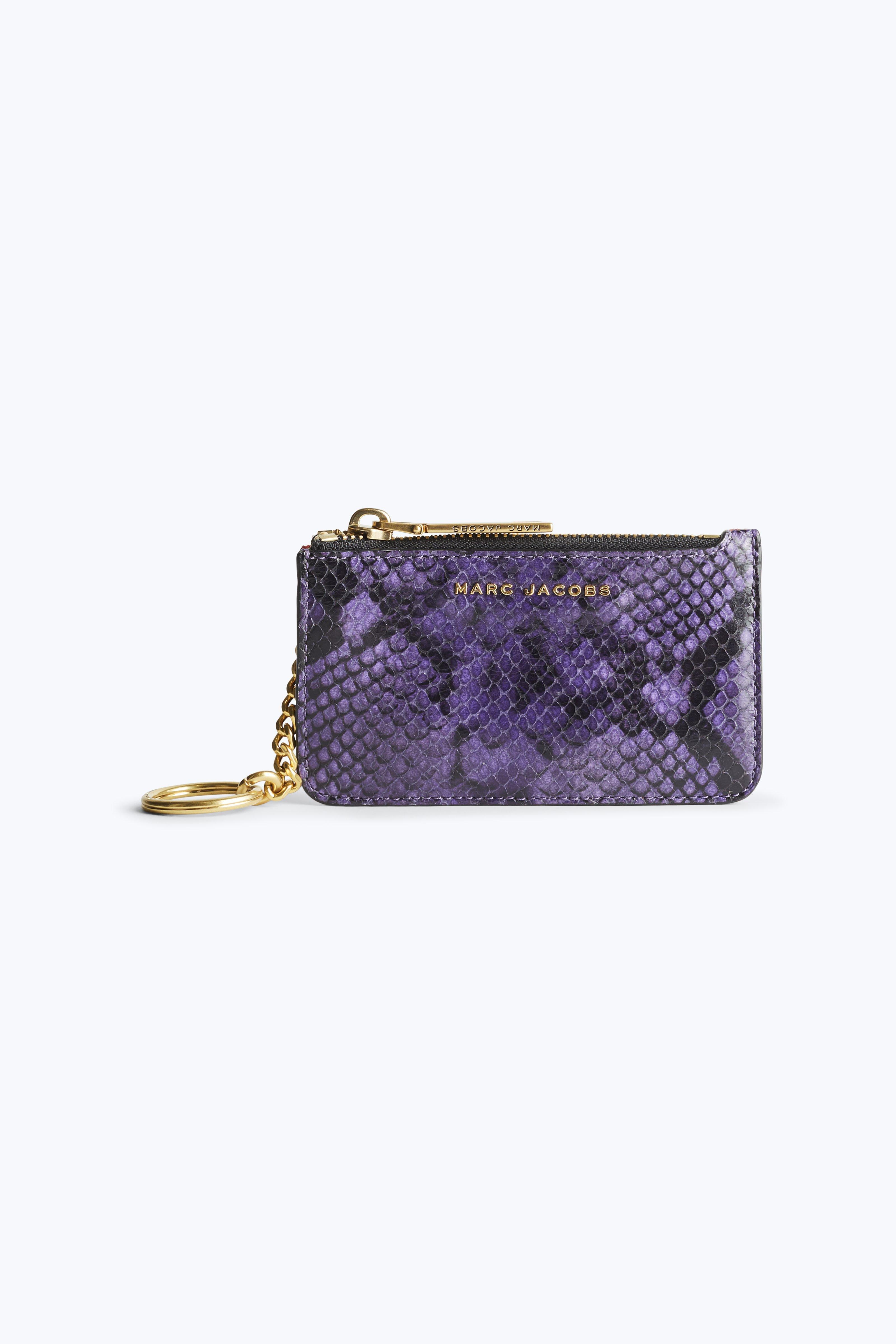 Marc Jacobs Snake Key Pouch In Violet Multi