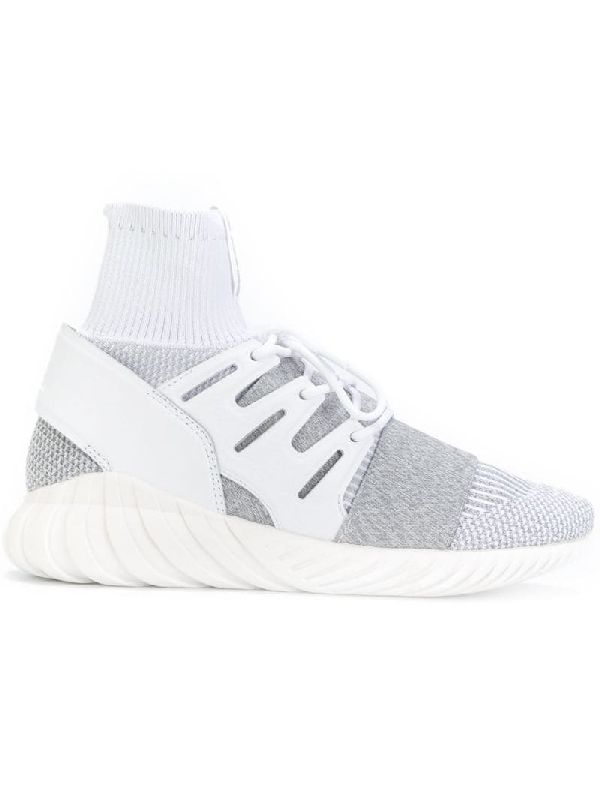 a4fa1ffe8927 Adidas Men's Tubular Doom Primeknit Casual Sneakers From Finish Line in Grey