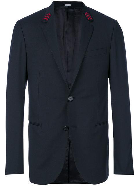 Lanvin Embroidered Arrow Collar Blazer In Black