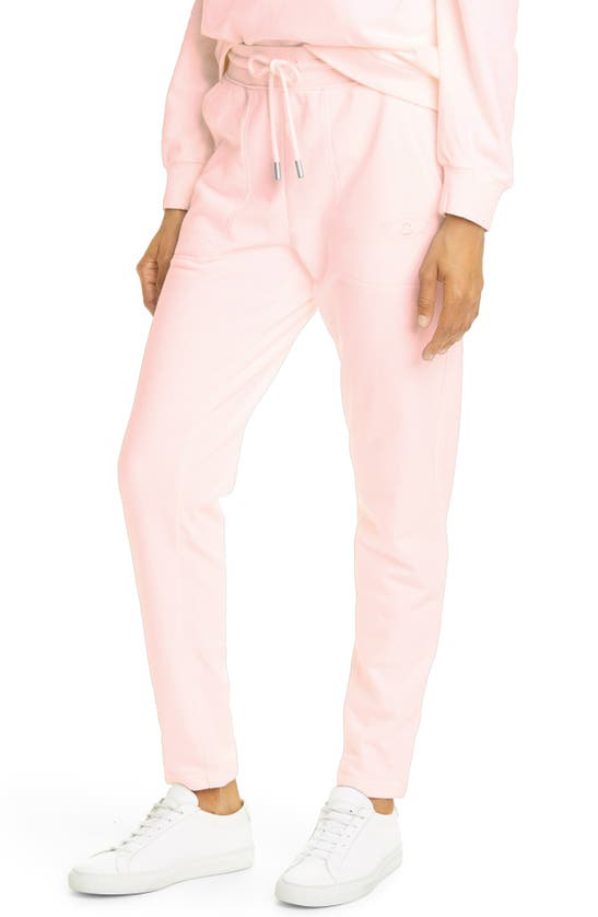 Nicole Miller Embroidery Skinny Joggers In Blush