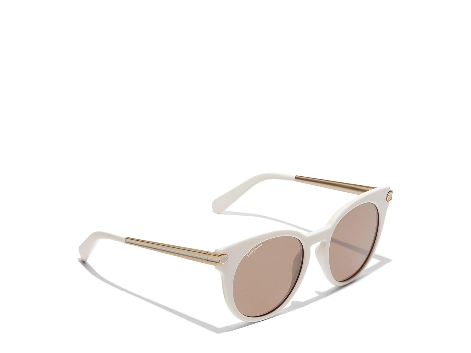 Salvatore Ferragamo Sunglasses In Ivory