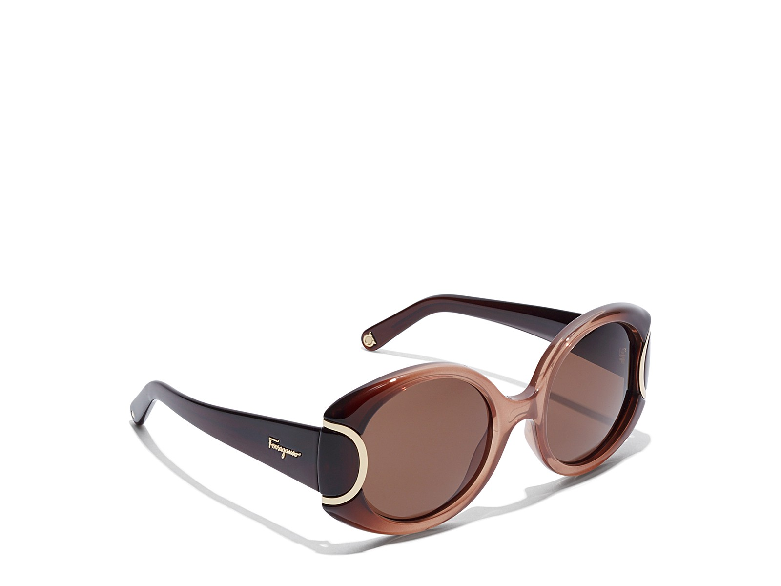 Salvatore Ferragamo Signature Collection Sunglasses In Brown Gradient
