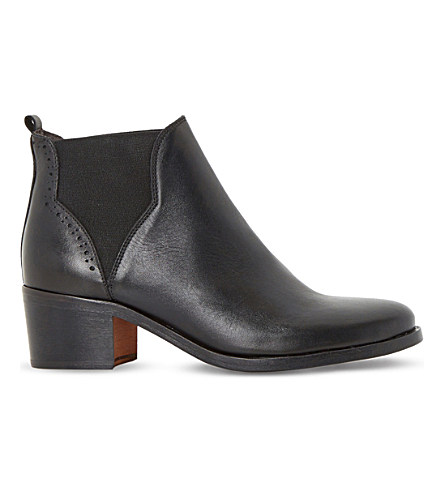 Dune Parnell Leather Chelsea Ankle Boots In Black-leather