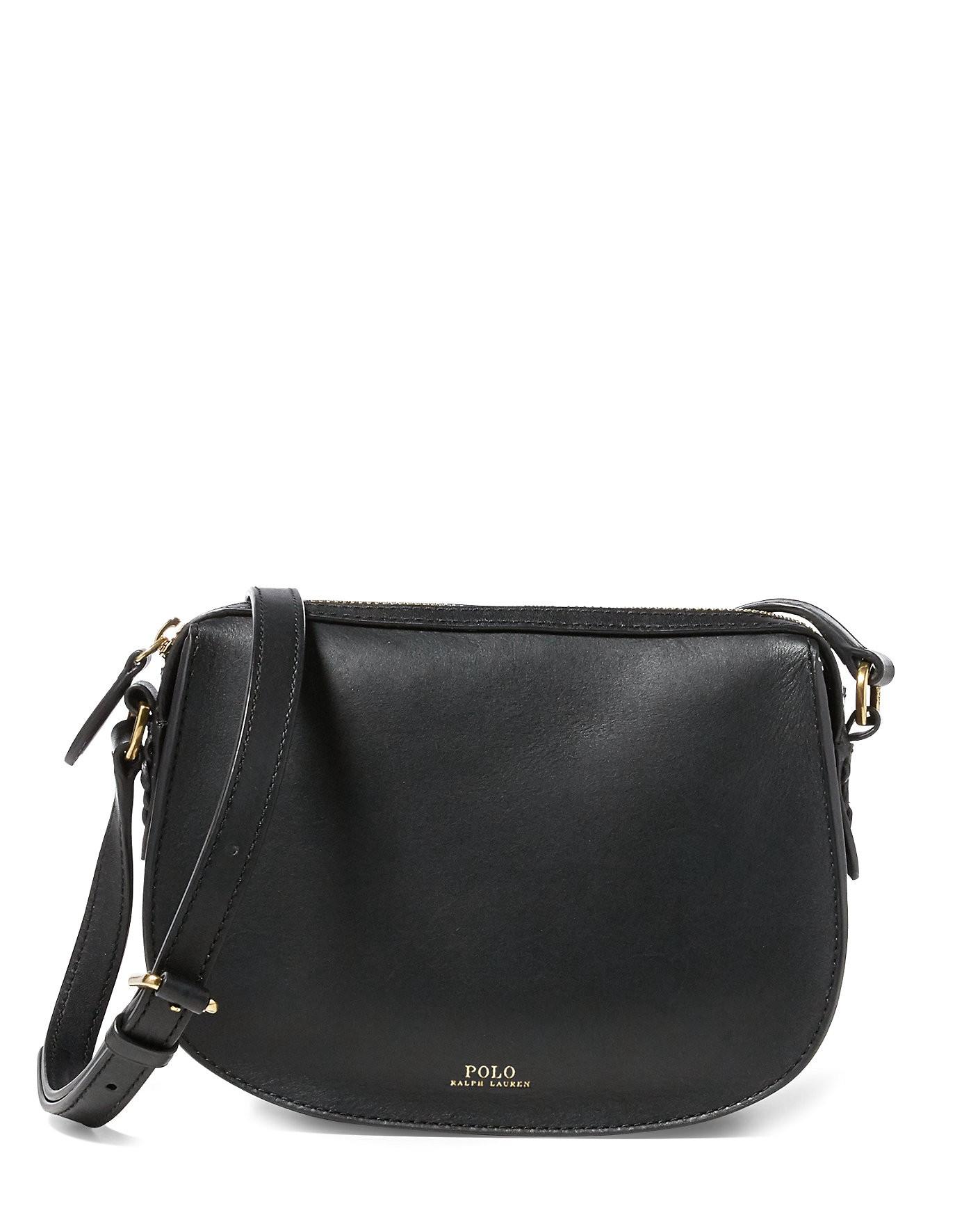 Ralph Lauren Polo Leather Mini Crossbody Bag In Black  df4f0009ac95a