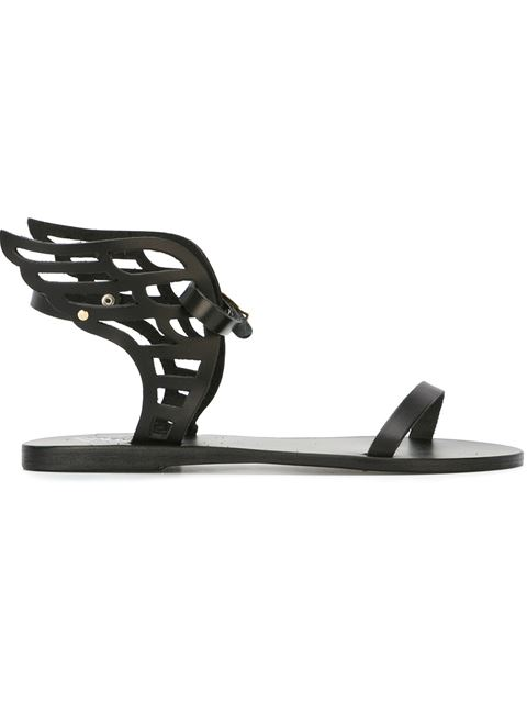 Ancient Greek Sandals 'ikaria' Sandal (women) In Black Leather