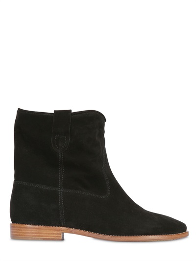 Isabel Marant ÉToile Crisi Suede Ankle Boots In Black