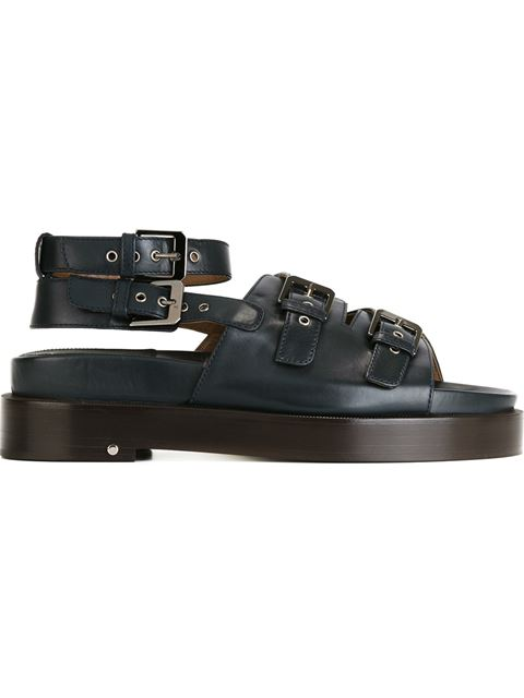 Laurence Dacade Leather Sandals With Buckled Straps In Black