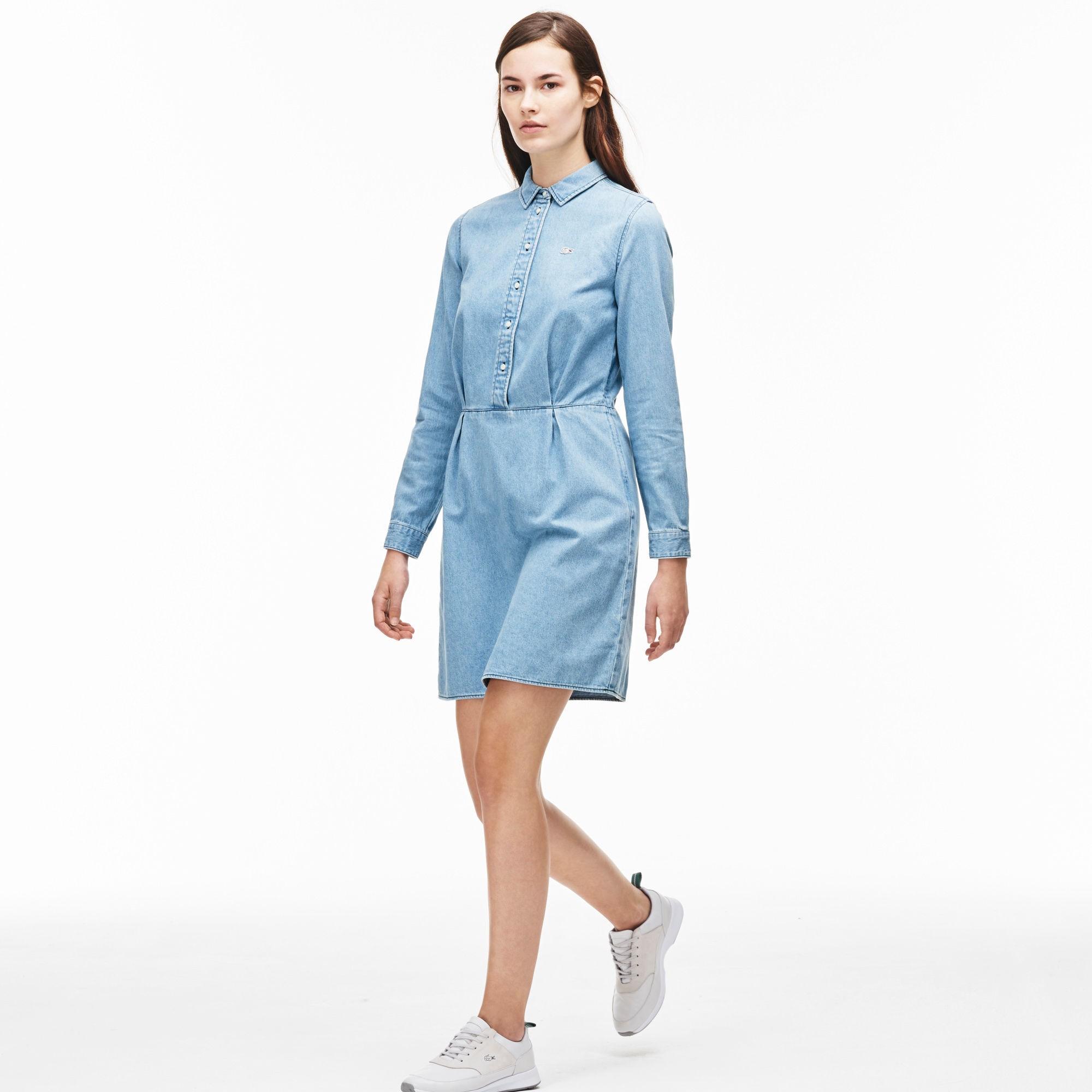 Women's L!ve Fitted Denim Shirt Dress - Light Indigolight Indigo