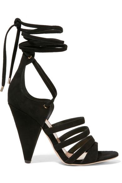Tamara Mellon Cosmic Trip Suede Sandals In Black