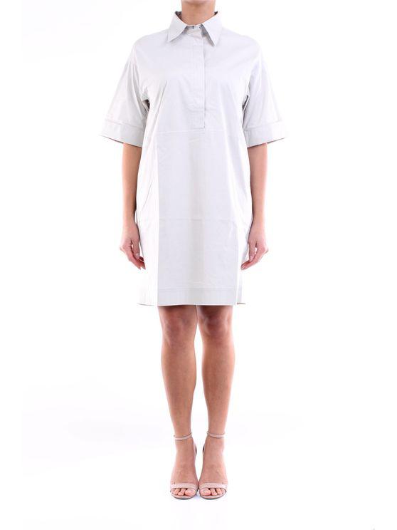 Lorena Antoniazzi Dress Calf Women Mastic In White