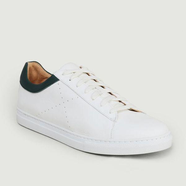 L'exception Paris Sustainable Sneakers Vert Foncé  In White