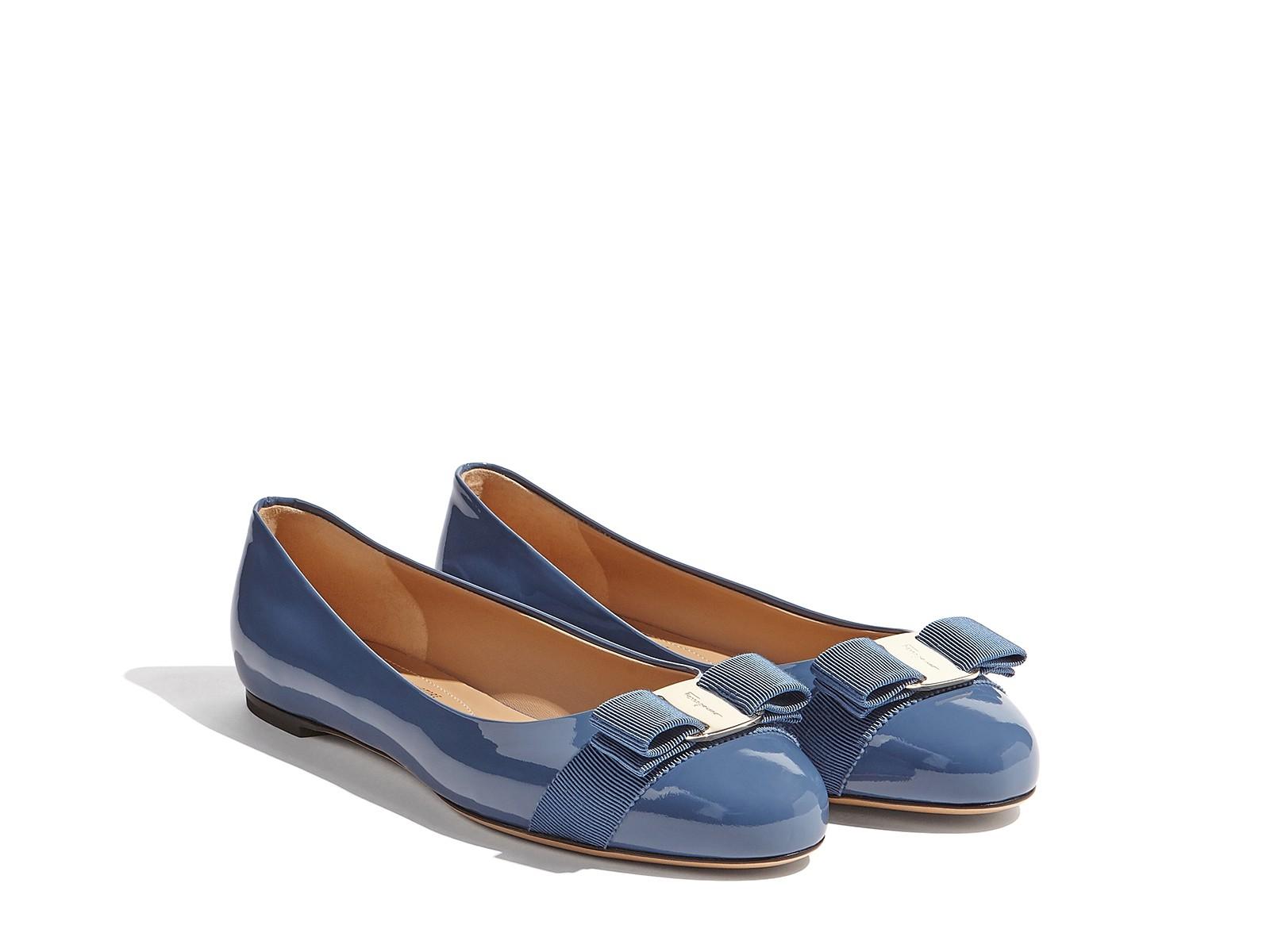 7a197aecd53a Salvatore Ferragamo Varina Ballet Flat In Blue Stone