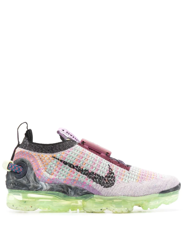 Nike Air Vapormax 2020 Flyknit Sneakers In Violet Ash And Sunset Pulse-pink In Black