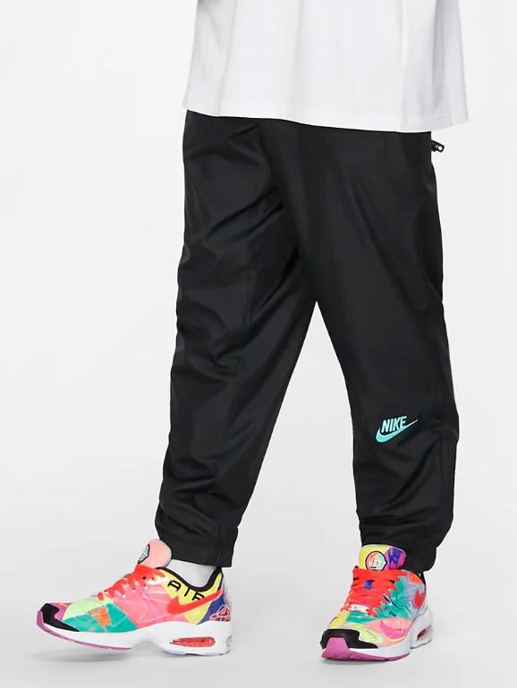 Nike Track Pants In Black/ Hyper Jade