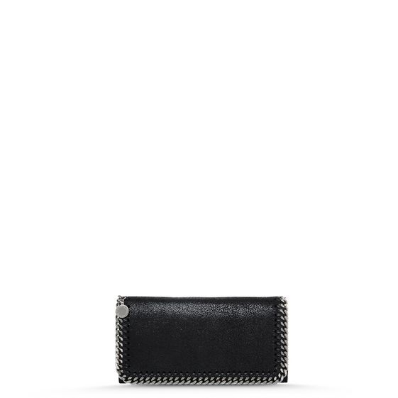 Stella Mccartney Fallabella Wallet In Black